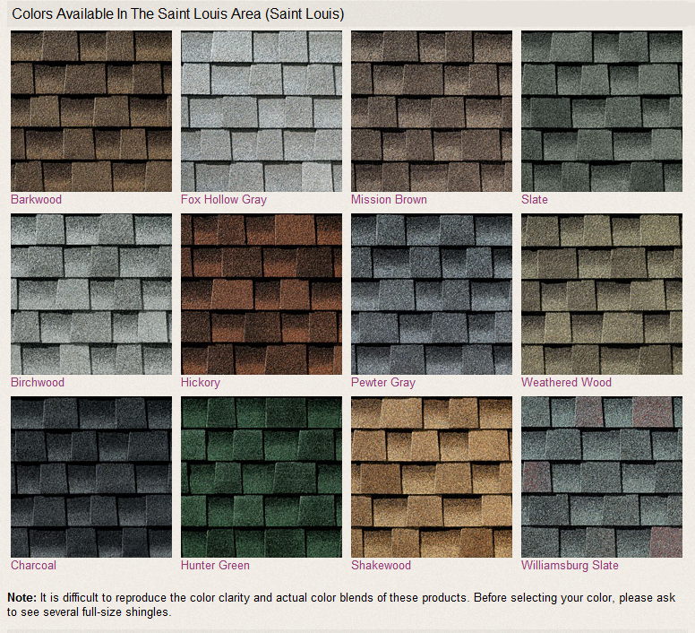 Gaf Roofing Colors